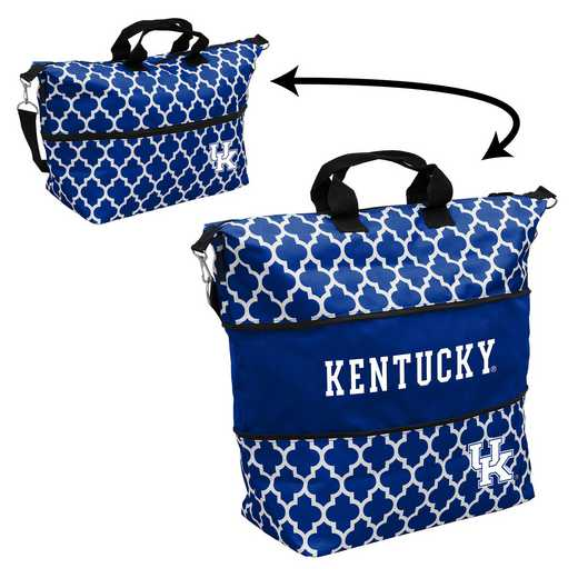 159-665-CR1: LB Kentucky Quatrefoil Expandable Tote